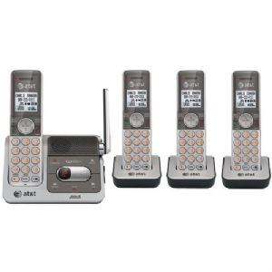 DECT 6.0 FOUR-HANDSET CORDLESS PHONE WIT