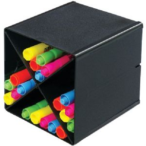 CUBE WITH X DIVIDERS (BLACK)