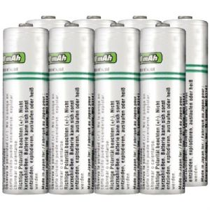 RECHARGEABLE ALKALINE BATTERIES (AA, 8 P