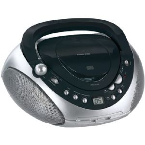 PORTABLE CD BOOM BOX WITH AM/FM RADIO