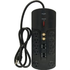 10-OUTLET SURGE PROTECTOR WITH TELEPHONE