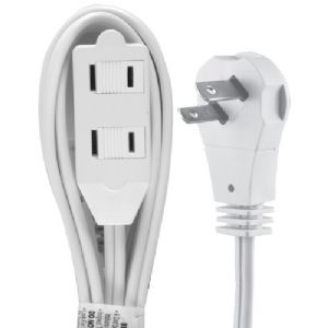 WALL HUGGER EXTENSION CORD, 6 FT