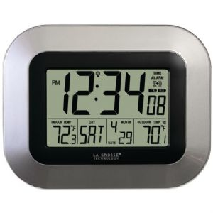 ATOMIC DIGITAL WALL CLOCK WITH INDOOR/OU