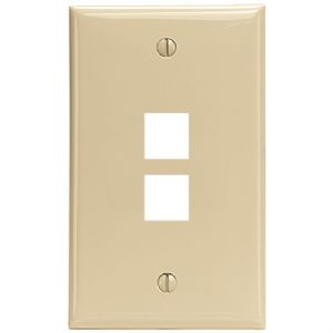 QUICKPORT(TM) WALLPLATE (2-PORT IVORY)