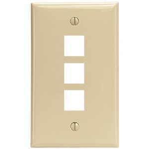 QUICKPORT(R) WALL PLATE (3 PORT IVORY)