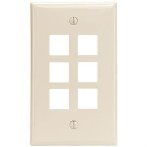 QUICKPORT(TM) WALLPLATE (6-PORT LIGHT AL