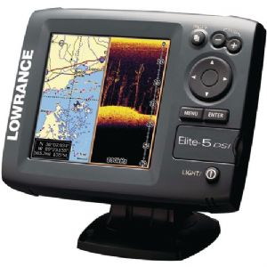 Lowrance Elite-5 DSI Color Combo Fishfin
