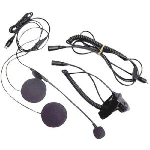 OPEN-FACE HELMET HEADSET SPEAKER/MICROPH