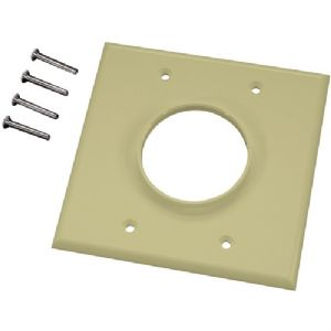 DOUBLE-GANG WIREPORT(TM) WALL PLATE (IVO