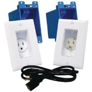 DeCOR RECESSED RECEPTACLE and POWER INLE