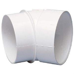 45deg SHORT SPIGOT MALE-TO-FEMALE PVC FI