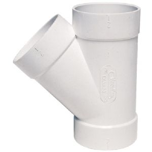 "45deg ""Y"" PVC FITTING"