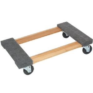WOOD 4-WHEEL PIANO CARPETED DOLLY