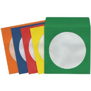 CD/DVD STORAGE SLEEVES (100 PK COLORS)