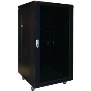 COMPLETE EQUIPMENT RACK WITH LOCKABLE DO