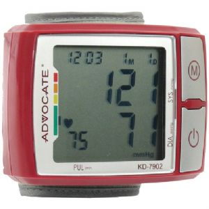 WRIST BLOOD PRESSURE MONITOR WITH COLOR
