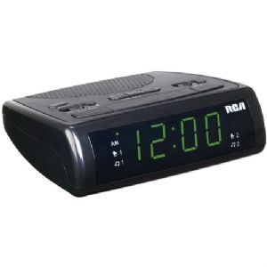 ".9"" DUAL WAKE CLOCK RADIO"