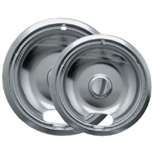 CHROME DRIP PANS, 2 PK (STYLE A)