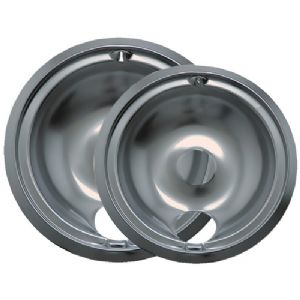 CHROME DRIP PANS, 2 PK (STYLE B)