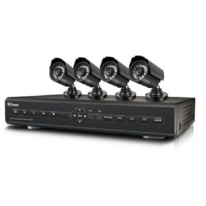 4-CHANNEL DVR WITH 4 INDOOR/OUTDOOR DAY/