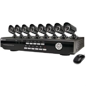 8-CHANNEL DVR WITH 8 INDOOR/OUTDOOR DAY/