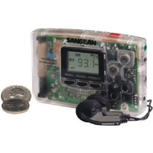 AM/FM STEREO POCKET RADIO (CLEAR)
