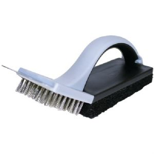 BBQ GRILL CLEANING BRUSH WITH SCOURING P
