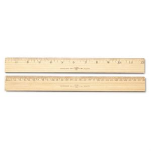 RULER,MTRC/INCHES,WOOD,12