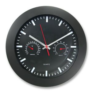 CLOCK,WALL,12RND,W/GAUGES