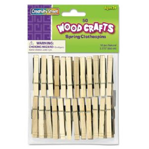 CLOTHESPINS,SPRING,50PIECES