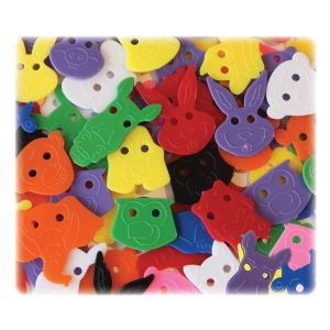 BUTTONS,FACE,ANIMAL,70PC