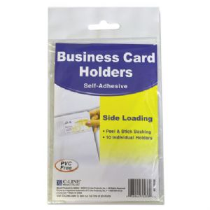 C-Line� Self-Adhesive Business Card Hold
