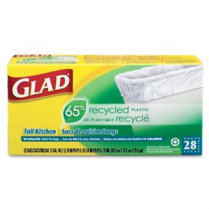 GLAD,65%RECYCLED,13GAL