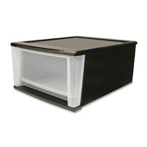 DRAWER,STACKING,8GAL,BK