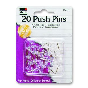 PUSH PINS CL 20CT