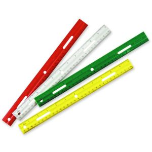 RULER,PLASTIC,12.ASTUPC
