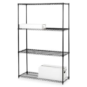 RACK,WIRE,4-TIER,36x18,BK