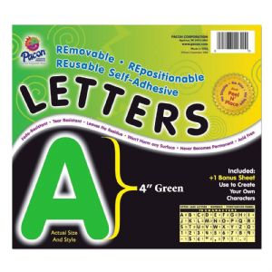LETTERS,4,SELFADHESIVE,GN