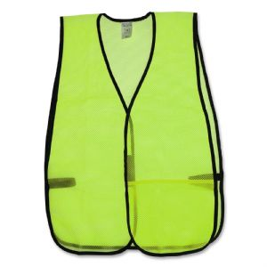 81006 VEST, LIME GREEN MESH