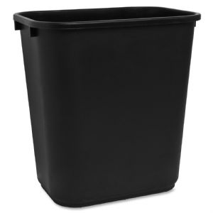 WASTEBASKET,RECT,28 QT,BK