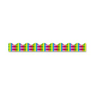 TRIMMER,RAINBOW PLAID