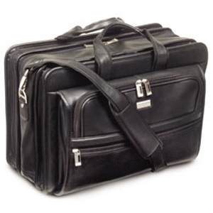 U.S. Luggage Leather Wide Body Computer Case