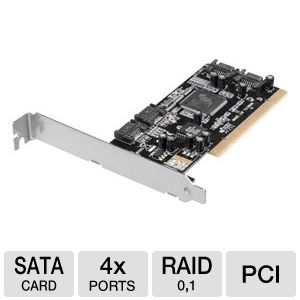 Ultra 4-Port SATA 3Gbps PCI Expansion Card