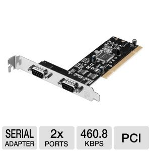 Ultra Serial 16550 PCI Card - 2 Port