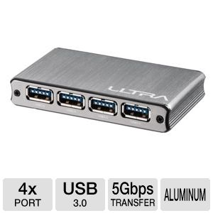 Ultra Aluminus USB 3.0 Hub 4 Port