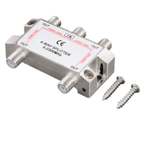 Ultra U12-40826 4-Way 2500MHz Coaxial Splitter