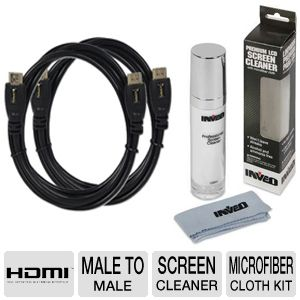 Basic TV Owners kit  Screen Clean 2 HDMI 6' cables