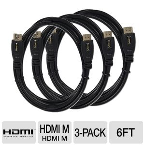 3-PACK Ultra 6FT HDMI Cable