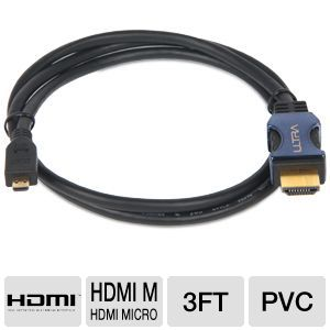 Ultra 3FT HDMI Micro - Mobile device to HDTV