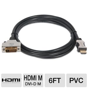 Ultra 6FT HDMI to DVI-D Cable -10.2Gbps, 1080p